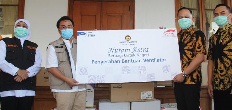 United Tractors Serahkan Bantuan Ventilator Untuk Penanganan Pandemi COVID-19 Kepada Pemerintah Provinsi Jawa Timur