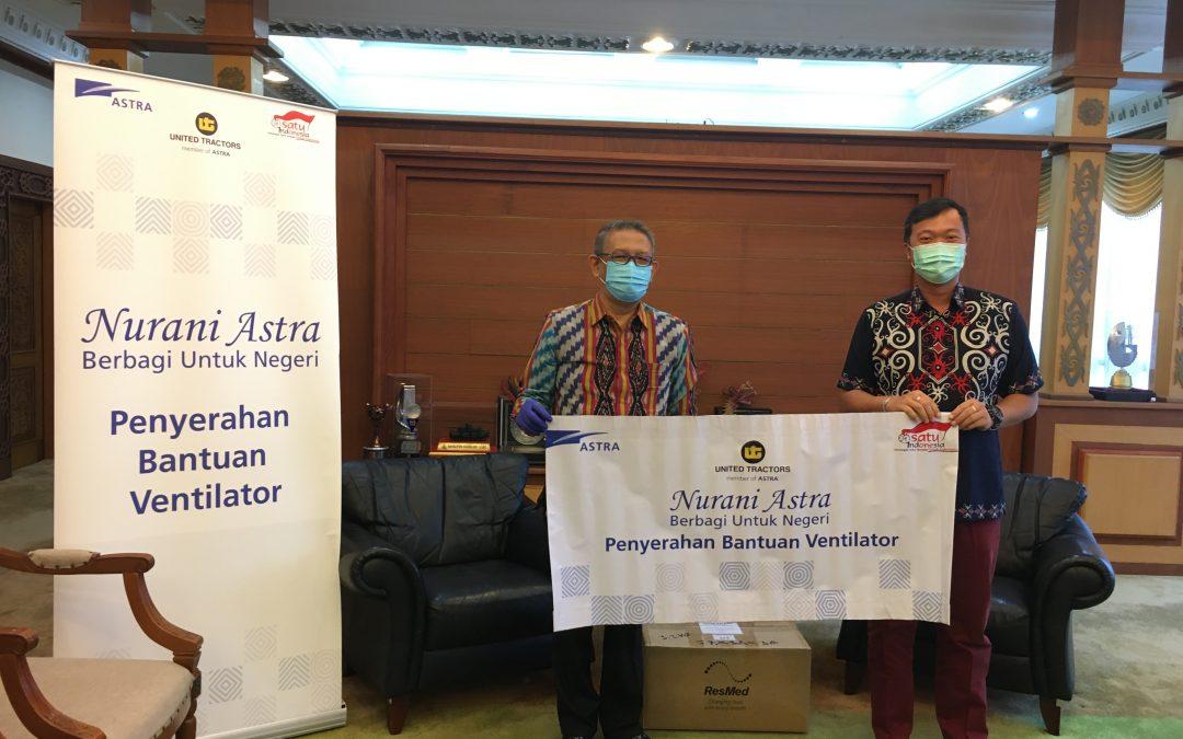 United Tractors Serahkan Bantuan Ventilator Untuk Penanganan Pandemi COVID-19 Kepada Pemerintah Provinsi Kalimantan Barat