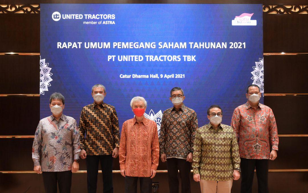 PT United Tractors Tbk Membagikan Dividen Tunai untuk Tahun Buku 2020 Sebesar Rp2,4 Triliun
