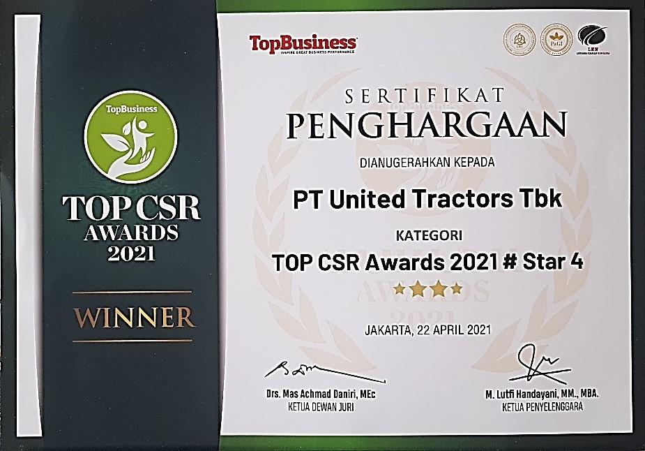 Penghargaan TOP CSR 2021